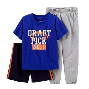 Carter's Baby Boys 3-Pc. Draft Pick Pj's, 12M